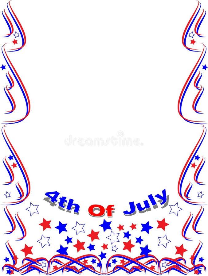 Patriotic frame border 4th july stock illustration