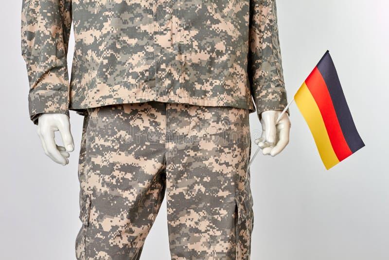 Patriotic german soldier concept. stock photo