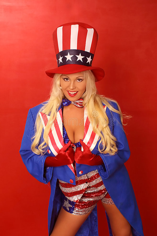 Download Patriotic Girl stock image. Image of lady, suit, young - 149469