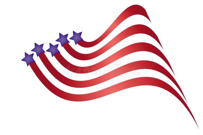 Patriotic Graphic stock illustration
