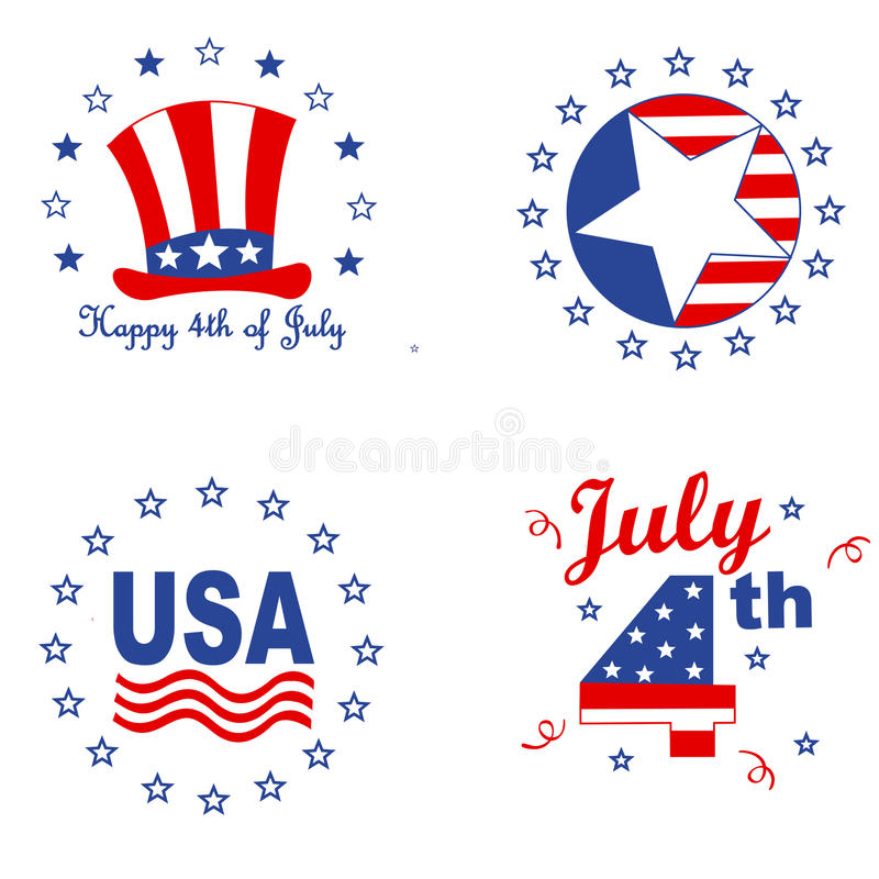 Patriotic graphics stock illustration