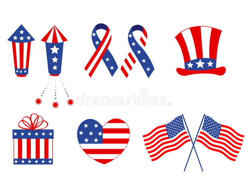 Patriotic graphics royalty free illustration