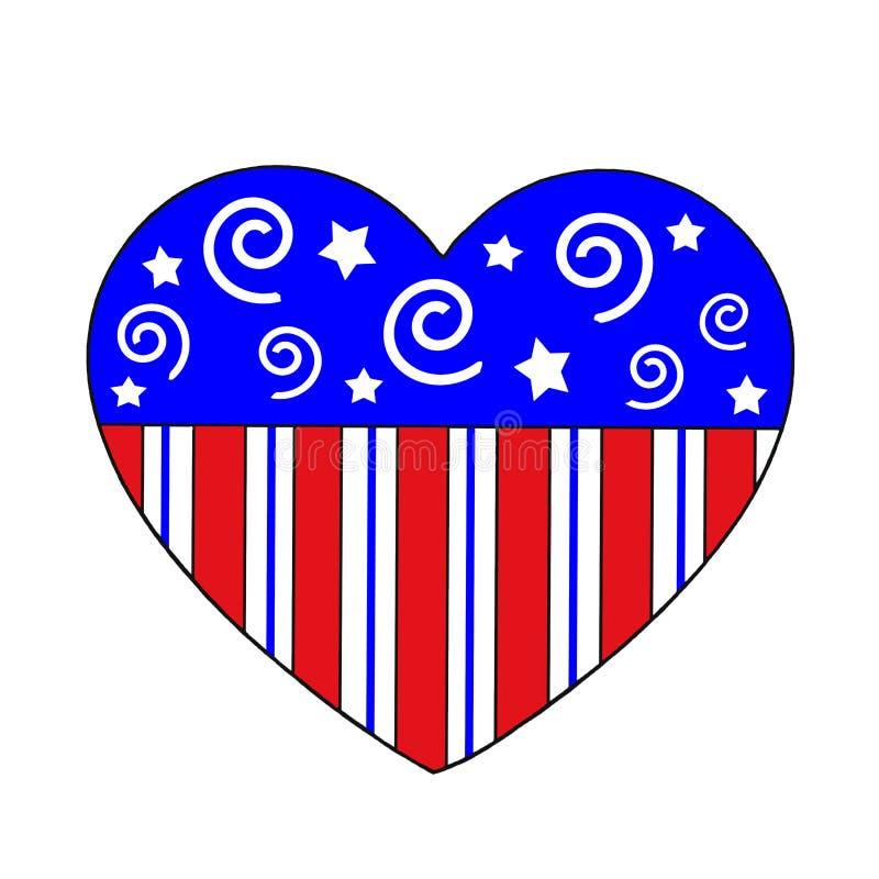 patriotic heart stock illustration illustration of swirls 15150910 rh dreamstime com Patriotic Banner Clip Art US Patriotic Clip Art