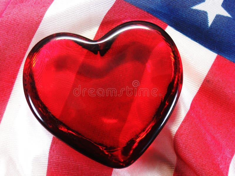 Patriotic heart stock photos