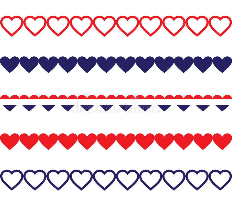 Line Art Heart Shape : Patriotic heart borders stock images image