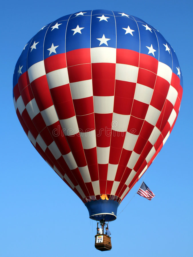Free Patriotic Hot Air Balloon Royalty Free Stock Image - 1389256