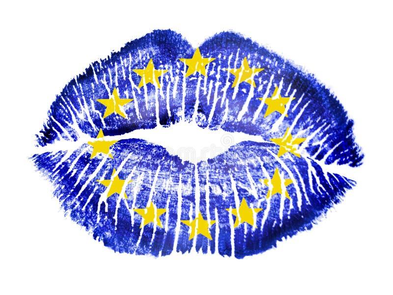 Patriotic love - EU royalty free stock images