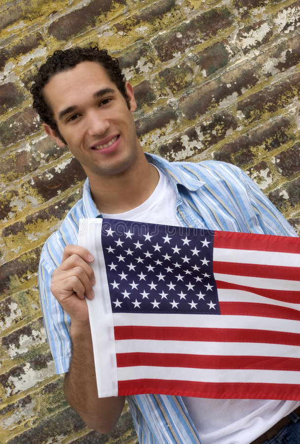 Patriotic Man stock photos