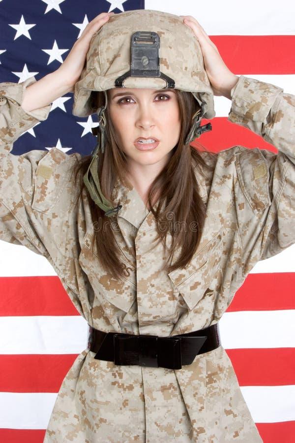 Patriotic Marine royalty free stock photos