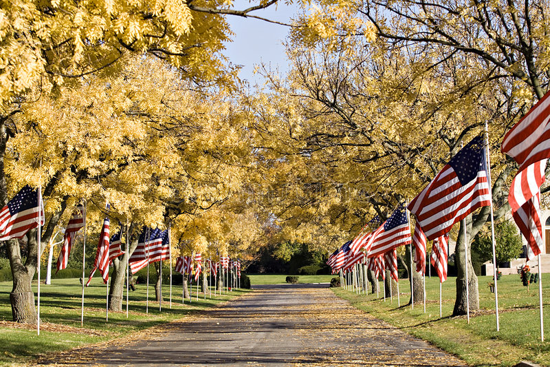 Patriotic Memorial stock photos