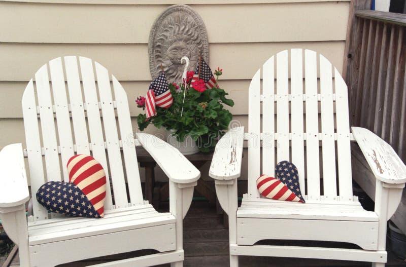 Patriotic pair stock photography