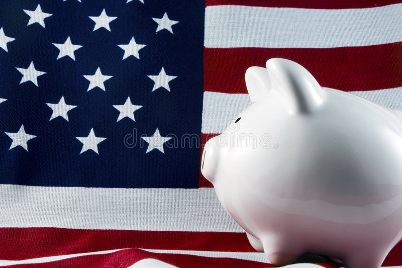 Patriotic Piggy Bank 4148 royalty free stock photo