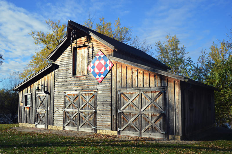 Patriotic Quilt Barn royalty free stock photos