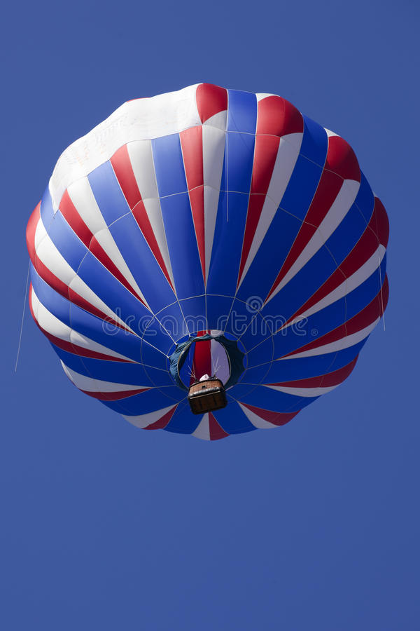 Free Patriotic Red White And Blue Hot Air Balloons Stock Image - 57368781