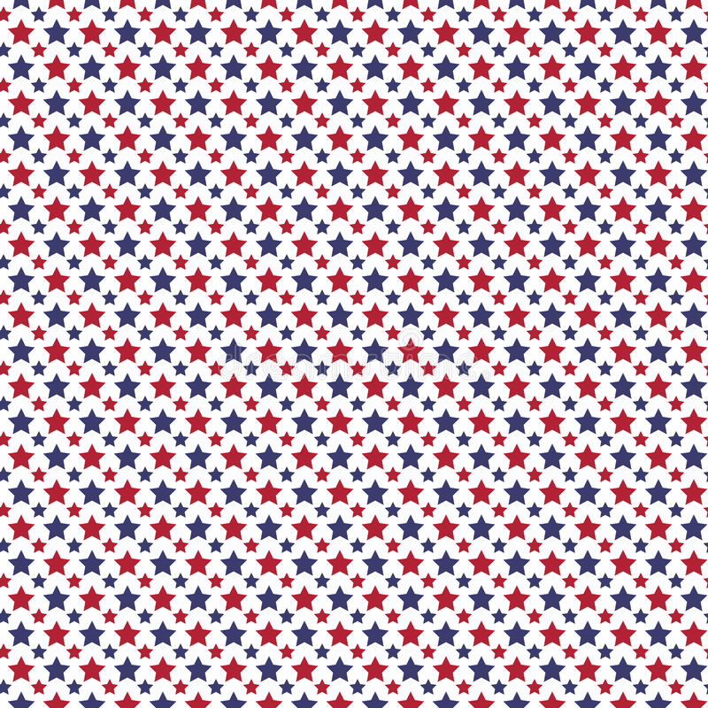 Download Patriotic Red White Blue Geometric Seamless Pattern Stock Vector