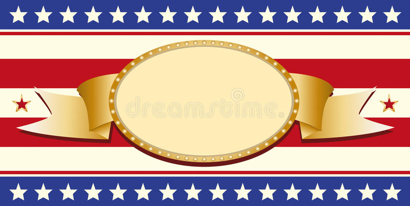 Patriotic sign stock photography