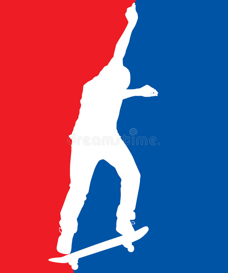 Patriotic Skater vector illustration