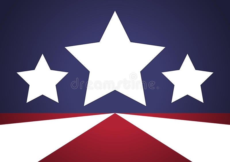 Patriotic Stars Background stock illustration