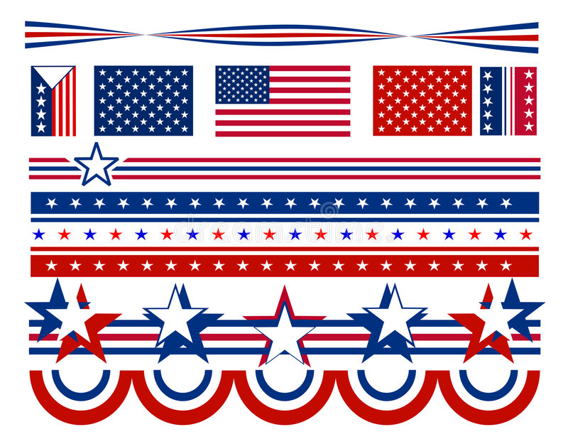 Patriotic Stars and Bars - USA vector illustration