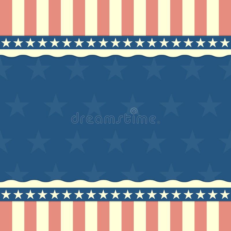 Patriotic stars and stripes background. Detailed illustration of a patriotic background with stars and stripes royalty free illustration