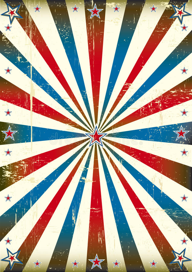 Patriotic sunbeam vintage background royalty free illustration