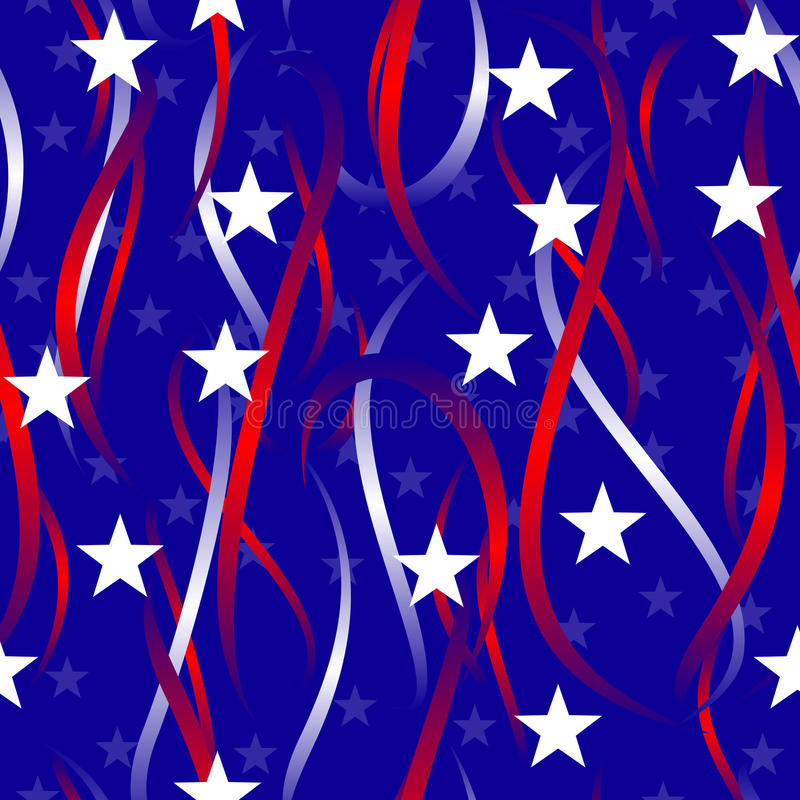 Download Patriotic swirls and stars stock vector. Image of flag - 9726372