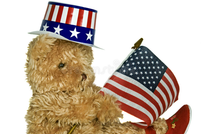 Download Patriotic Teddy stock image. Image of humorous, flag - 14844975
