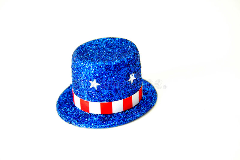 Patriotic Top Hat royalty free stock photo