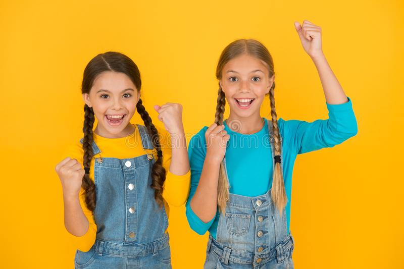 Patriotic upbringing. Independence day. Children ukrainian young generation. We are ukrainians. Ukrainian kids. Celebrate national holiday. Patriotism concept stock image