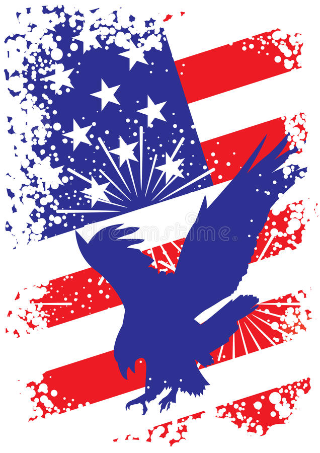 Patriotic usa background with eagle stock illustration