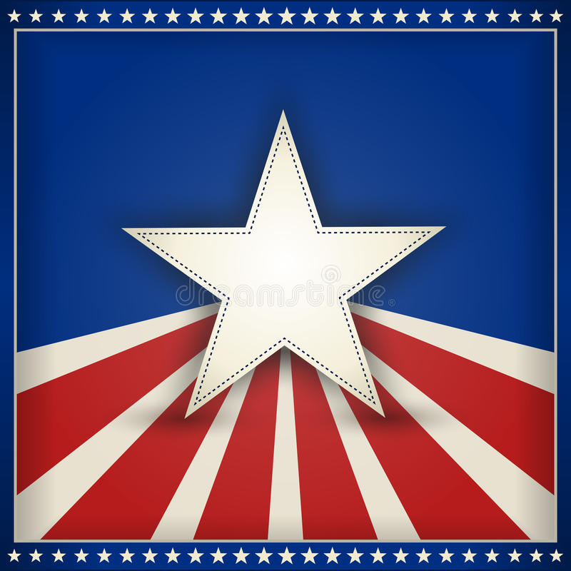 Patriotic USA background with stars and stripes stock illustration