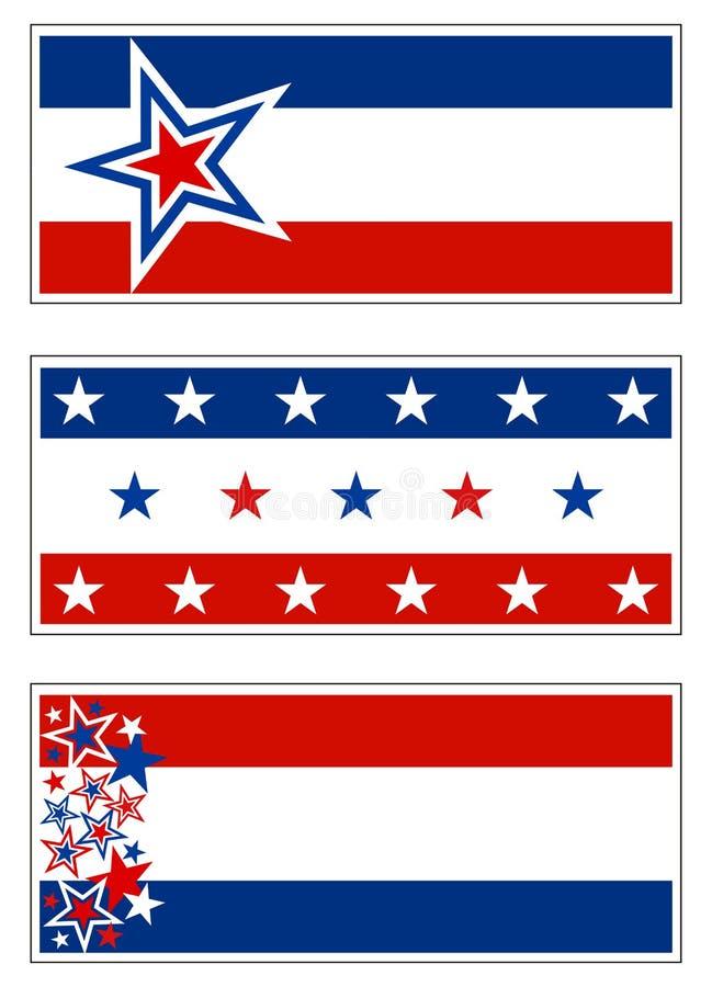 Patriotische Fahnen - USA stock abbildung