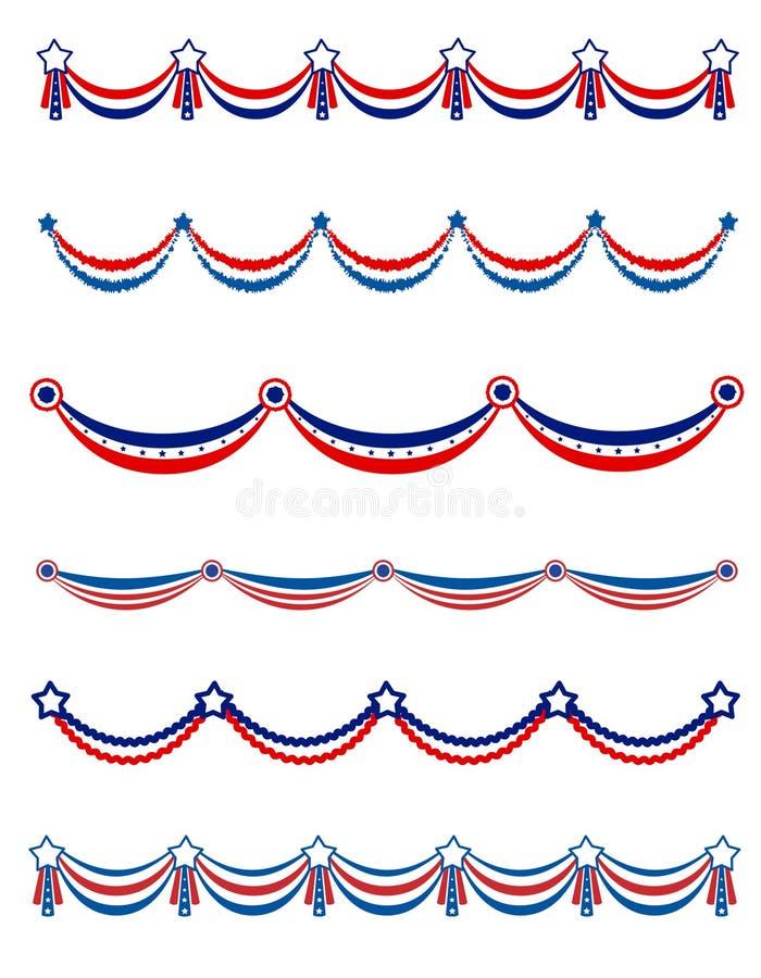 Patriotische Girlande lizenzfreie abbildung