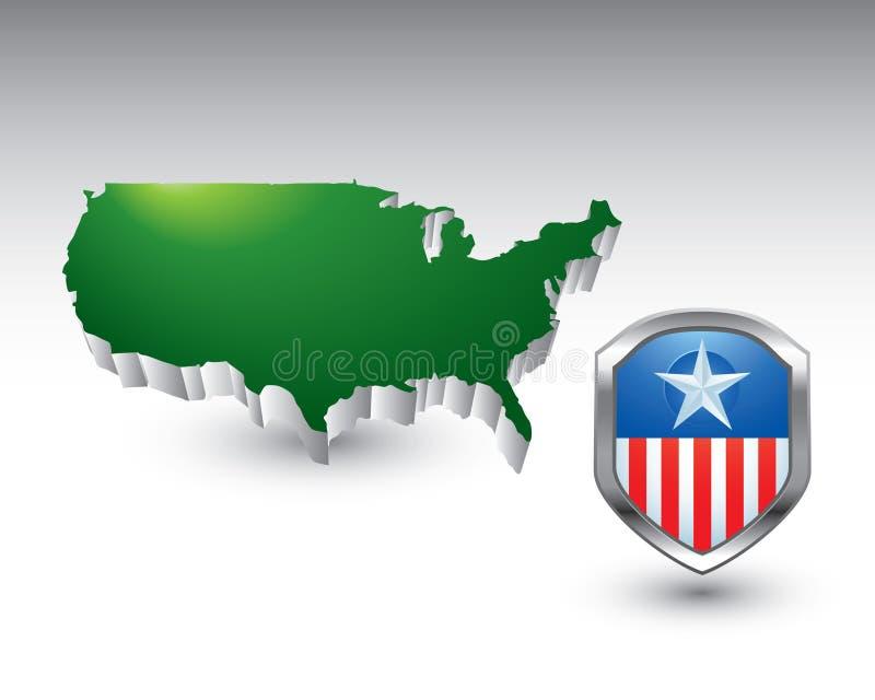 Patriotische Ikone durch Staat-Ikone stock abbildung