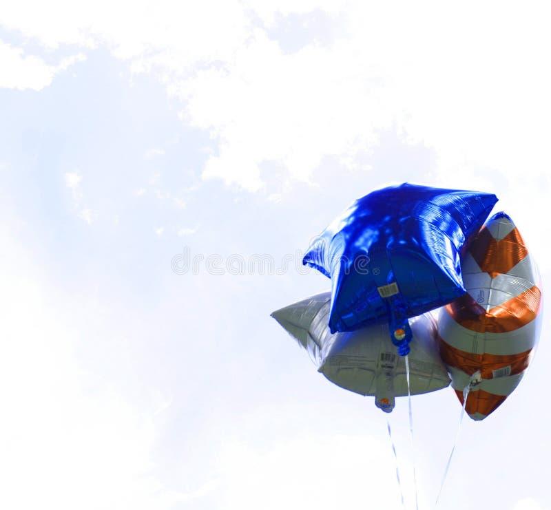Patriotische Sternballons stockbilder
