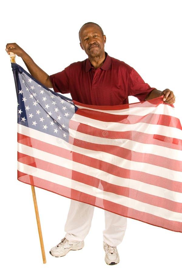 Patriotischer Afroamerikanermann stockfotografie