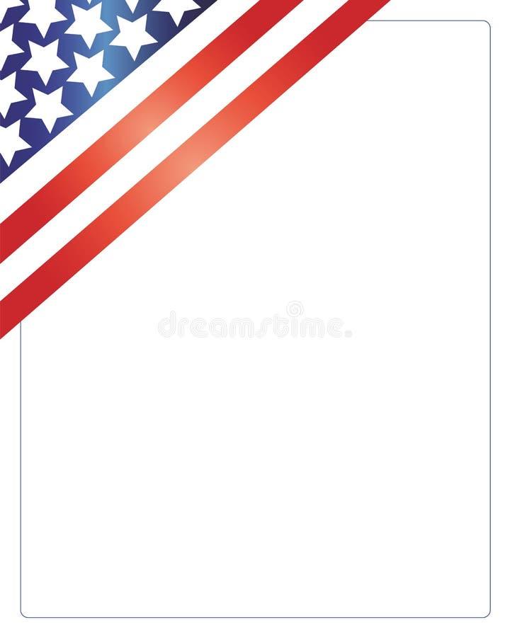 Patriotischer Amerikanischer Rahmen Vektor Abbildung - Illustration ...