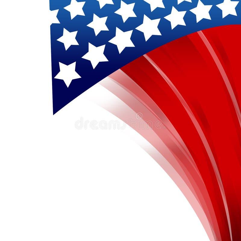 Patriotischer Hintergrund Vereinigter Staaten vektor abbildung