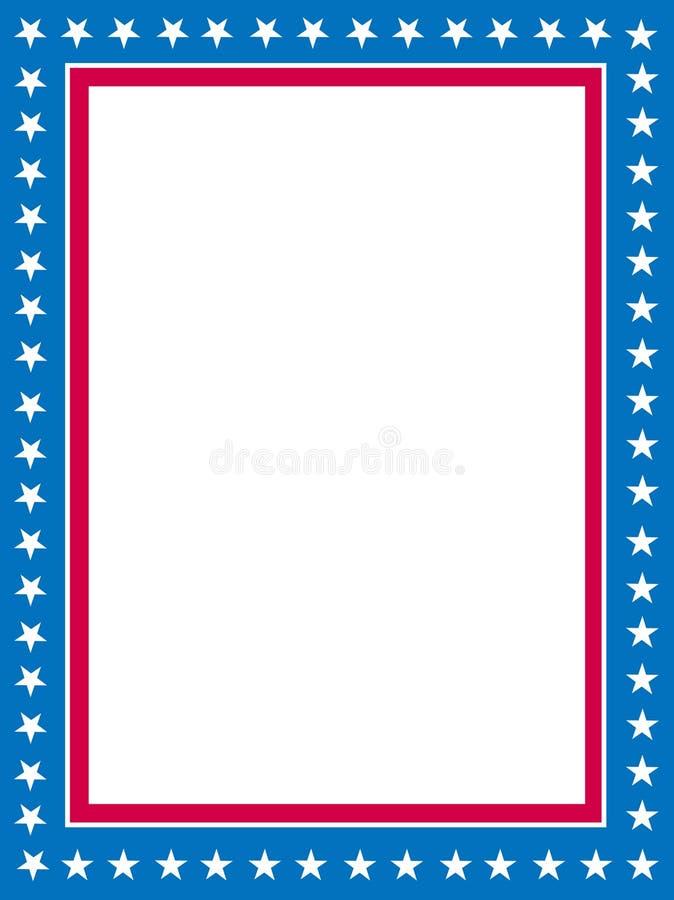 Patriotischer Rand stock abbildung