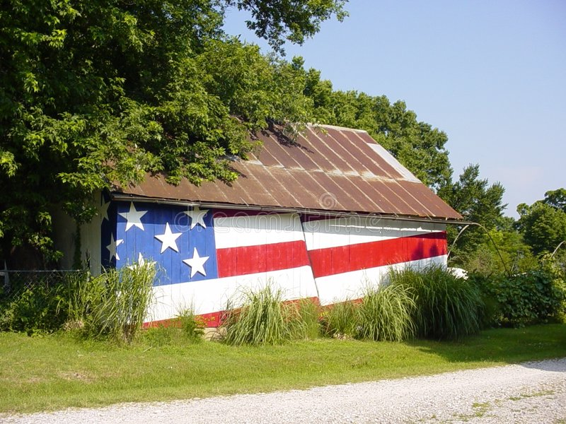 Patriotischer Stall stockbild