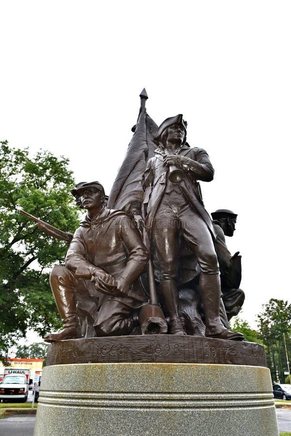 Patriotisches Denkmal Danbury Connecticut USA stockfotos