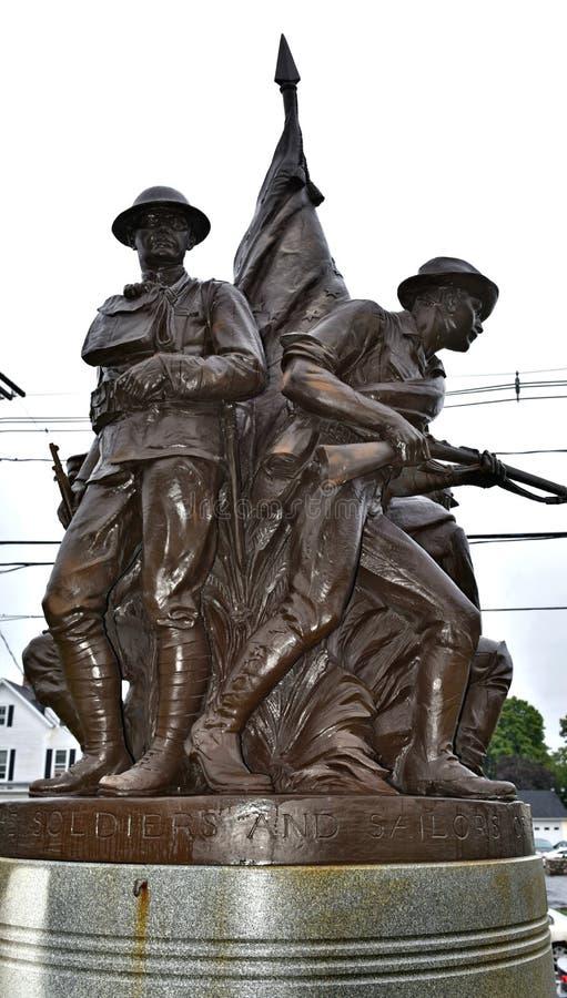Patriotisches Denkmal Danbury Connecticut USA lizenzfreie stockfotografie