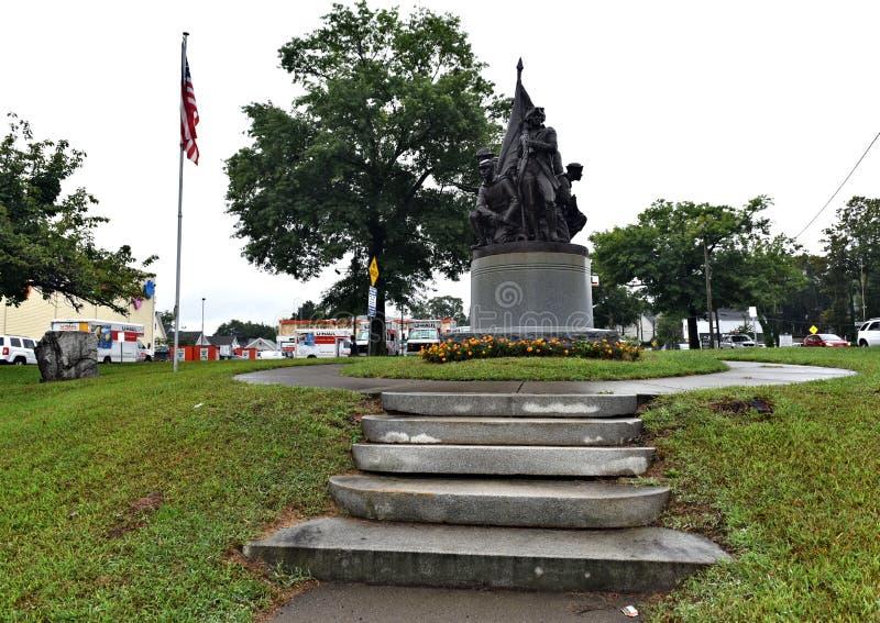 Patriotisches Denkmal Danbury Connecticut USA stockfotografie
