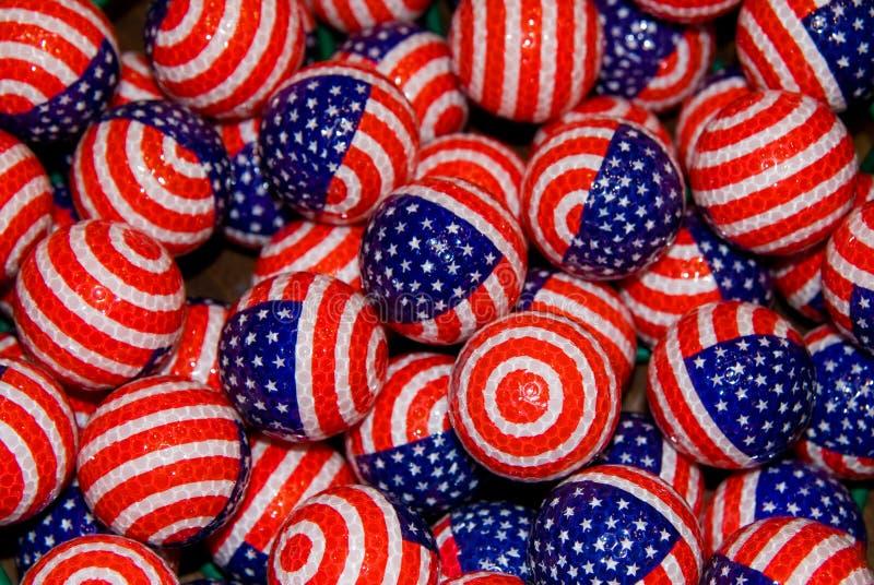 Patriotisches Golfballs stockfotos