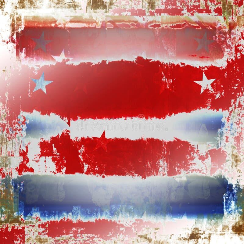 Patriotisches Grunge lizenzfreie abbildung