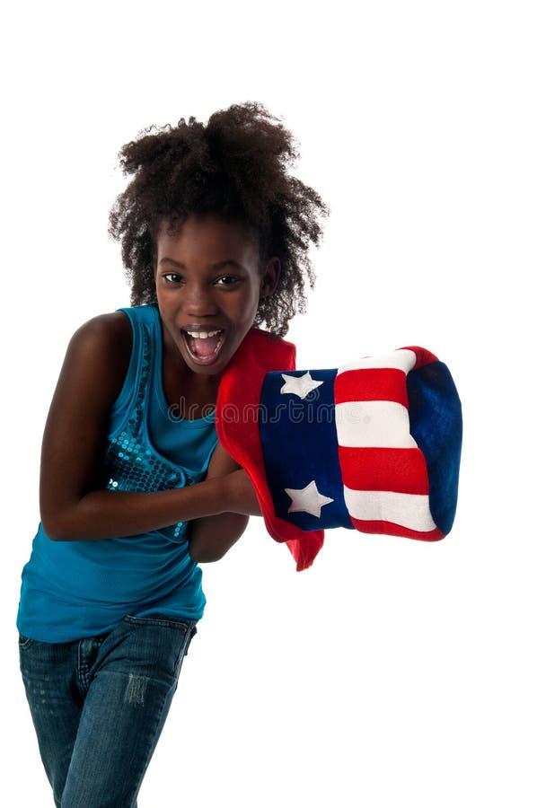 Patriotisches Mädchen stockfotografie