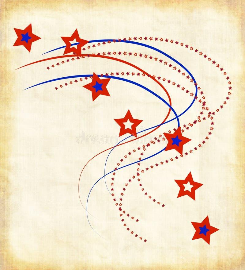 Patriotisches Papier stock abbildung