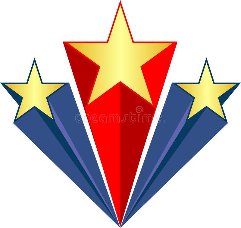 Patriotisches Stars/ai stock abbildung