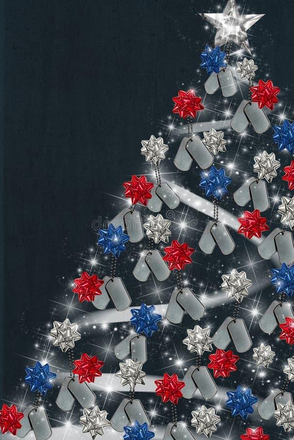Patriotisches Weihnachten stock abbildung