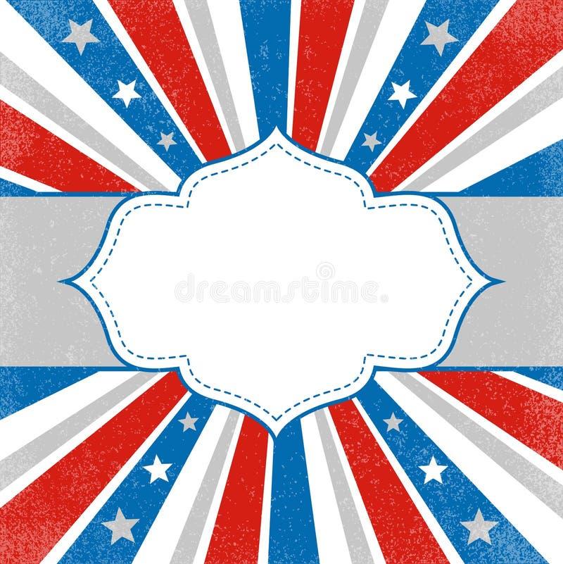patriotisk amerikansk bakgrund royaltyfri illustrationer